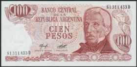 Argentinien / Argentina P.302b 100 Pesos (1976-78) (1)