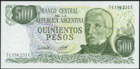 Argentinien / Argentina P.303b 500 Pesos (1977-82) (1)