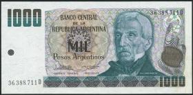 Argentinien / Argentina P.317b 1000 Argentinos (1983-85) (1)