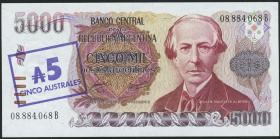 Argentinien / Argentina P.321 5 Australes (1985) (1)