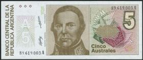 Argentinien / Argentina P.324b 5 Australes (1985-89)