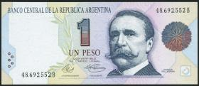 Argentinien / Argentina P.339a 1 Peso (1992-1993) (1)