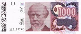 Argentinien / Argentina P.329d 1000 Australes (1988-90)