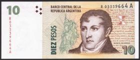 Argentinien / Argentina P.354r 10 Pesos (2003-2011) Replacement (1)