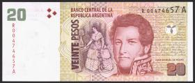 Argentinien / Argentina P.355r 20 Pesos (2003-2011) Replacement (1)