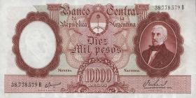 Argentinien / Argentina P.281b 10000 Pesos (1961-69) (3+)