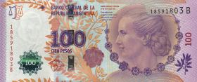 Argentinien / Argentina P.358b 100 Pesos 2012 Evita Peron II. Auflage (1)