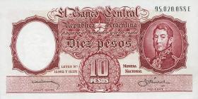 Argentinien / Argentina P.270 10 Pesos (1954-63) (1)