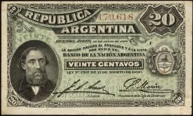 Argentinien / Argentina P.229 20 Centavos 1895 (2)