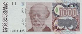 Argentinien / Argentina P.329a 1000 Australes (1988-90)