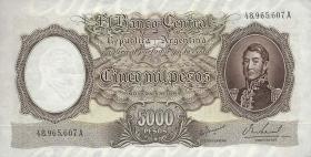 Argentinien / Argentina P.280b 5000 Pesos (1962-69) (1)