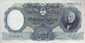 Argentinien / Argentina P.278b 500 Pesos (1964-69) (1)