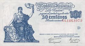 Argentinien / Argentina P.250 50 Centavos (1942-48) (1)