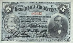 Argentinien / Argentina P.209 5 Centavos 1891 (1)