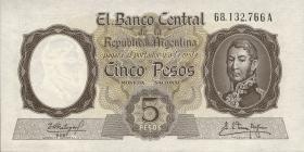 Argentinien / Argentina P.275b 5 Pesos (1960-62) (1)