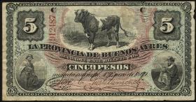 Argentinien / Argentina P.S482 5 Pesos 1869 (3-)