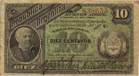 Argentinien / Argentina P.006 10 Centavos 1883 (3)