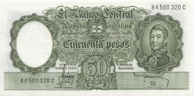 Argentinien / Argentina P.271d 50 Pesos (1955-68) (1)
