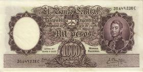 Argentinien / Argentina P.279b 1000 Pesos (1966-69) (2)