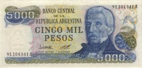 Argentinien / Argentina P.305a 5000 Pesos (1977-83) (1)