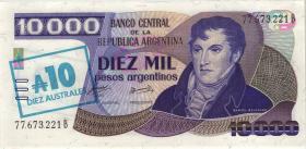 Argentinien / Argentina P.322a 10 Australes (1985) auf 10000 Pesos (1)