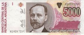 Argentinien / Argentina P.330e 5000 Australes (1989-1991) (1)