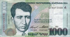 Armenien / Armenia P.50b 1000 Dram 2001 (1)