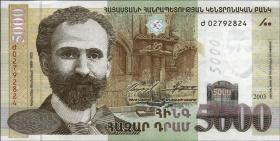 Armenien / Armenia P.51a 5000 Dram 2003 (1)