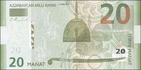 Aserbaidschan / Azerbaijan P.28  20 Manat 2005 (1)