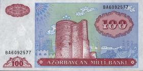 Aserbaidschan / Azerbaijan P.18b 100 Manat (1993) (1)