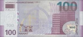 Aserbaidschan / Azerbaijan P.neu 100 Manat 2013 (2015) (1)