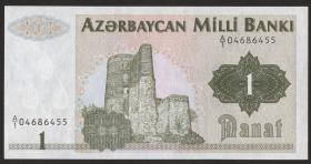 Aserbaidschan / Azerbaijan P.11 1 Manat (1992) (1)