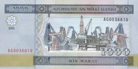 Aserbaidschan / Azerbaijan P.23 1000 Manat 2001 (1)