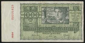 Österreich / Austria P.120 1000 Schilling 1945 (3-)