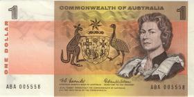 Australien / Australia P.37a 1 Dollar (1966) (2+)
