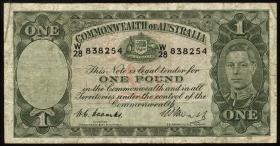 Australien / Australia P.26c 1 Pound (1949) (4)