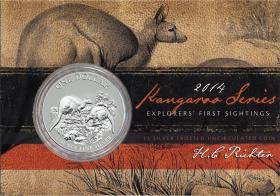 Australien Silber-Unze 2014 Känguruh im Blister