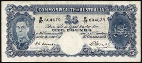 Australien / Australia P.27c 5 Pounds (1949) (4)