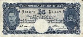 Australien / Australia P.27c 5 Pounds (1949) (3)