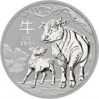 Australien Silber-Unze 2021 Jahr des Ochsen