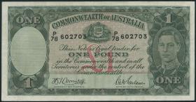 Australien / Australia P.26b 1 Pound (1942) (3)