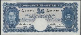 Australien / Australia P.27c 5 Pounds (1949) (3+)