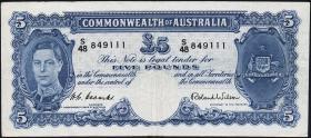 Australien / Australia P.27d 5 Pounds (1952) (3)