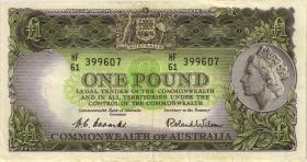Australien / Australia P.30a 1 Pound (1953-1960) (3+)