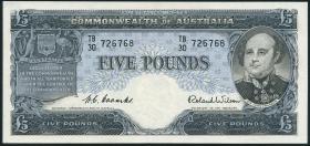 Australien / Australia P.31a 5 Pounds (1954-1959) (2/1)