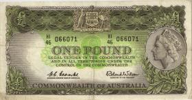 Australien / Australia P.34a 1 Pound (1961-65) (3)