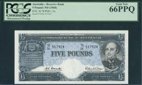 Australien / Australia P.35a 5 Pounds (1960-65) (1) graded