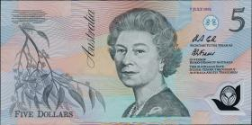 Australien / Australia P.50b 5 Dollars 7 July 1992 Polymer (1)