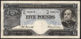 Australien / Australia P.31a 5 Pounds (1954-59) (3)