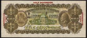 Australien / Australia P.15c 1/2 Sovereign (1927) George V. (3)